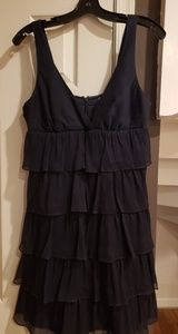 J. Crew Navy ruffled dress